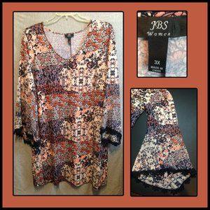 Beautiful Boho style dress by JBS Woman size 3X